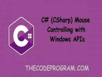 C# Mouse Controlling with Windows APIs