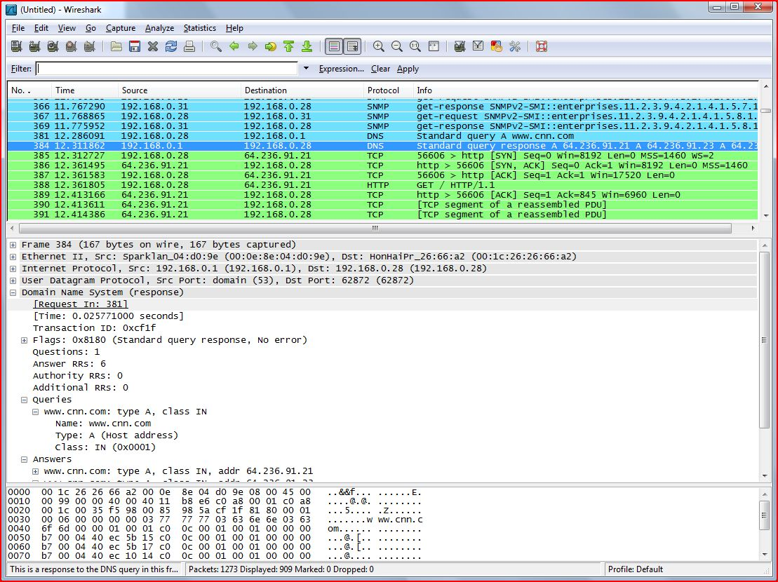 Wireshark ScreenShot Thecodeprogram