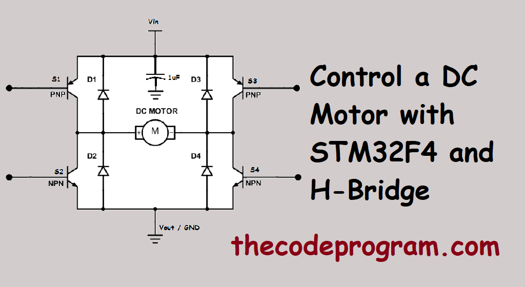 Control a DC Motor with STM32F4 and H-Bridge