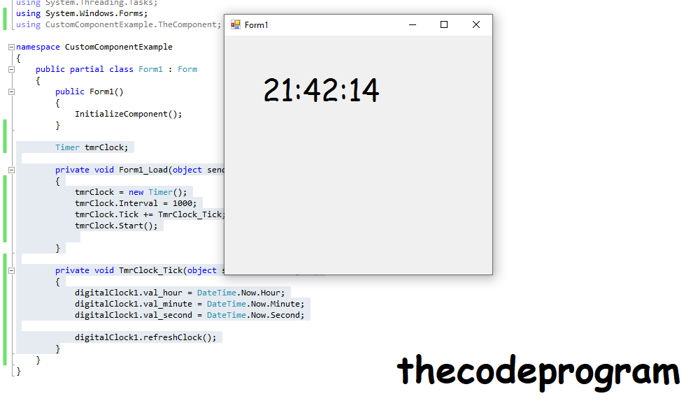 Custom Component will show as in this - Thecodeprogram