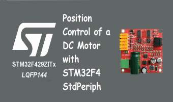 Position Control of DC Motor with STM32F4 StdPeriph
