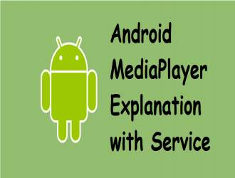 Android MediaPlayer Explanation with Service