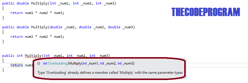 You can not define methods with same names and differant type return values