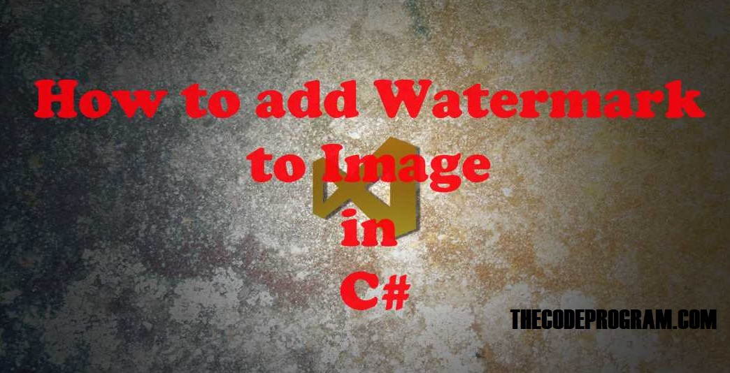 How to add Watermark to Image in C#
