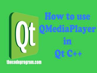 How to use QMediaPlayer in Qt C++