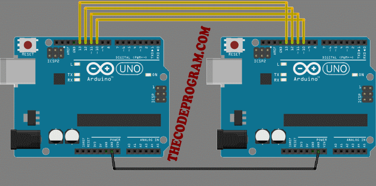 Arduino SPI Communication Schmatic