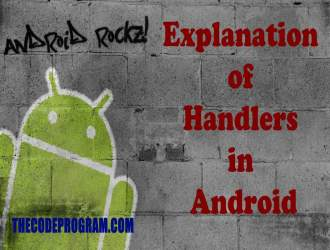 Explanation of Handlers in Android