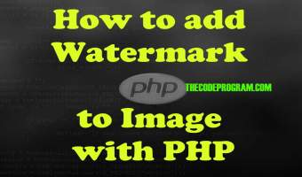 How to add Watermark to Image with PHP