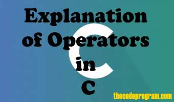 Explanation of Operators in C