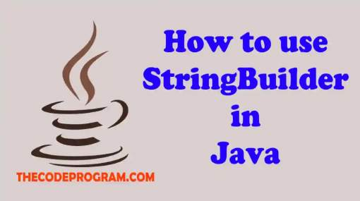 How to use StringBuilder in Java