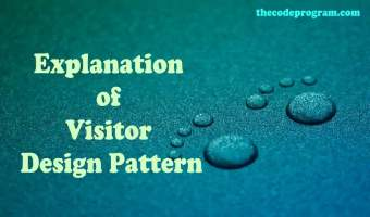 Explanation of Visitor Design Pattern