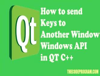 How to send Keys to Another Window - Windows API in QT C++
