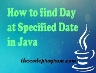 How to find Day at Specified Date in Java