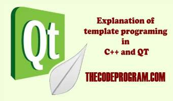 Explanation of template programing in C++ and QT